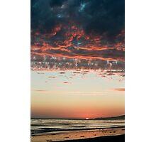Pink Cumulus Sunset Photographic Print