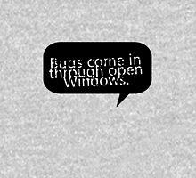 Bugs come in through open Windows. Mens V-Neck T-Shirt