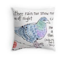 Carrier Pigeon Throw Pillow