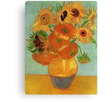 Vase with Twelve Sunflowers, Vincent van Gogh Canvas Print