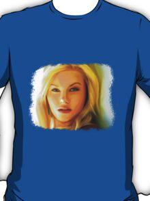 Elisha Cuthbert - Oil Painting T-Shirt