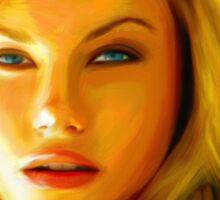 Elisha Cuthbert - Oil Painting Sticker