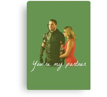 Olicity - You're My Partner Canvas Print