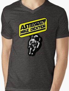 Astronaut Mike Dexter Mens V-Neck T-Shirt