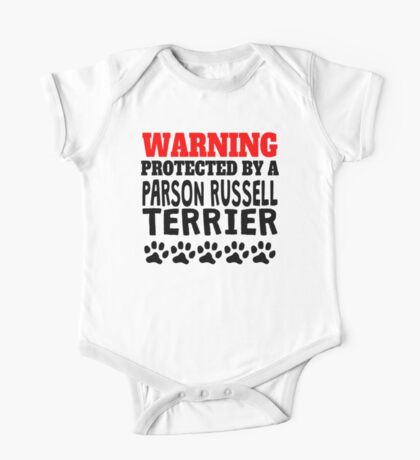 Protected By A Parson Russell Terrier One Piece - Short Sleeve