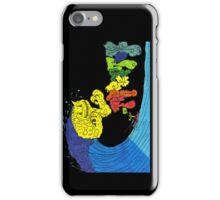 Percentum surfer - black iPhone Case/Skin
