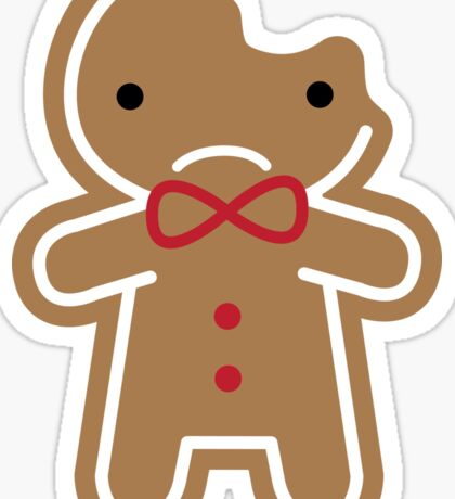 Cookie Cute Sad Gingerbread Man  Sticker