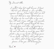 Dear Allie - a letter from Noah by AlyssaSbisa