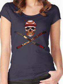Skull and Crossed Didgeridoo Women's Fitted Scoop T-Shirt