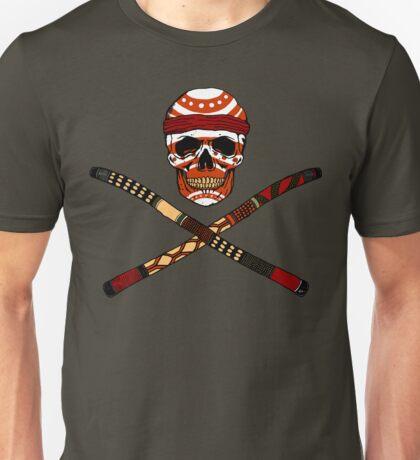 Skull and Crossed Didgeridoo Unisex T-Shirt
