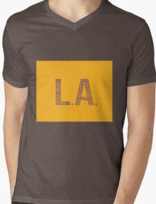 LA Mens V-Neck T-Shirt