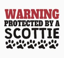Protected By A Scottie Kids Tee