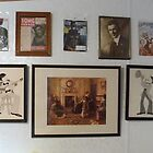 Wall decorations, w vintage art, Batman (The Dark Knight Rises),Hendrix,Judy Garland  by Stacey Lazarus