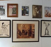 Wall decorations, w vintage art, Batman (The Dark Knight Rises),Hendrix,Judy Garland  by Stacey Lazarus