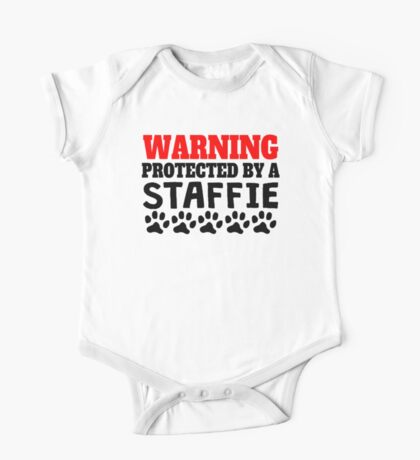 Protected By A Staffie One Piece - Short Sleeve