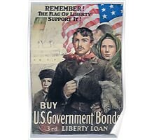 Remember! The flag of liberty Support it! Buy US government bonds 3rd Liberty Loan 002 Poster