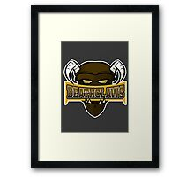 Deathclaws - Varsity Team Logo Framed Print