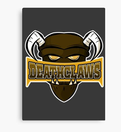 Deathclaws - Varsity Team Logo Canvas Print