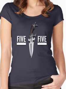 Buffy - Faith 5 by 5 minimalist poster Women's Fitted Scoop T-Shirt