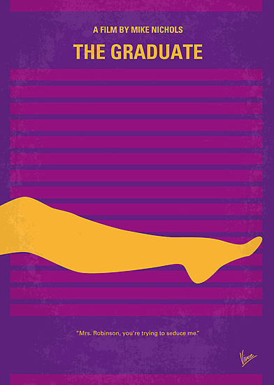 No135 My THE GRADUATE minimal movie poster by Chungkong