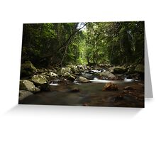 The river to Natural Arch Greeting Card