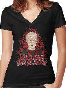 William the Bloody Women's Fitted V-Neck T-Shirt