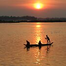 Red Sun Falling on the Mekong  by KelseyGallery