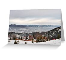 Snowy Mountains Landscape Greeting Card