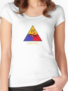 27th Armored Division 'empire' (United States) Women's Fitted Scoop T-Shirt