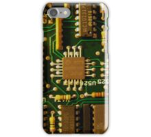 Retro Circuits #1 iPhone Case/Skin
