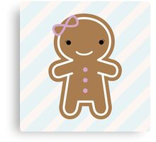 Cookie Cute Gingerbread Girl Canvas Print