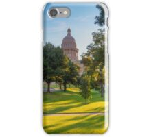 Morning Sunshine at the Texas State Capitol 1 iPhone Case/Skin