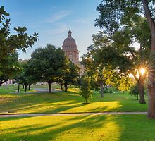Morning Sunshine at the Texas State Capitol 1 by RobGreebonPhoto