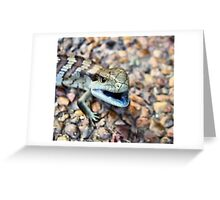 Baby Blue Tongue - All Gone Number 3 Greeting Card