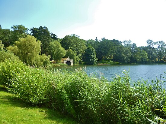 Boat House on the Lake at Burghley House by Holly Daniels