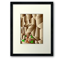 Power from the mother of the rocks Framed Print
