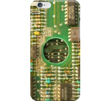 Retro Cicuits #4 Circle iPhone Case/Skin