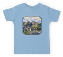 Mountain Valley Wolves - Mother Wolf and Pups Kids Tee
