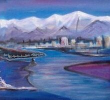Christchurch from Sumner by Vicky Peacock