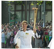 James Cracknell and The Olympic Flame Poster