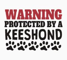 Protected By A Keeshond Kids Tee