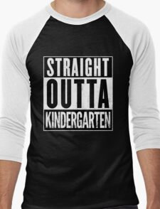 Straight Outta Kindergarten Men's Baseball ¾ T-Shirt