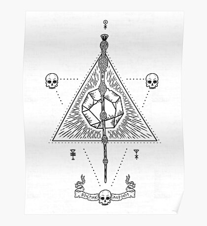 Deathly Hallows (White) Poster