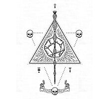 Deathly Hallows (White) Photographic Print