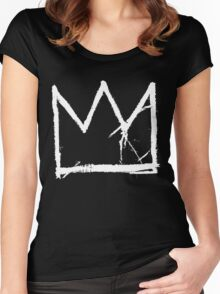 Basquiat King Crown Women's Fitted Scoop T-Shirt