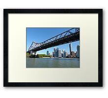 Brisbane & the Story Bridge Framed Print