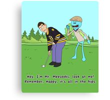 Mr. Meeseeks Happy Gilmore Parody Canvas Print