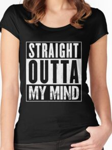 Straight Outta My Mind Women's Fitted Scoop T-Shirt