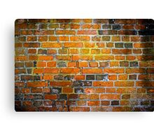The red and yellow brick wall  Canvas Print
