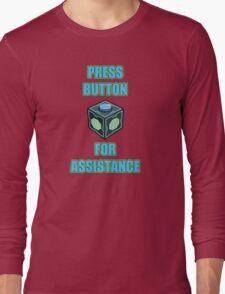 Mr. Meeseeks Easy Button Long Sleeve T-Shirt